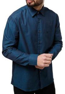 Camisa Manga Longa Elétron Masculina - Masculino-Verde