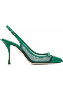 Dolce & Gabbana Sapato Com Mesh E Fechamento No Tornozelo - Verde