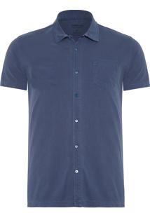 Camisa Masculina Cotton Knit - Azul