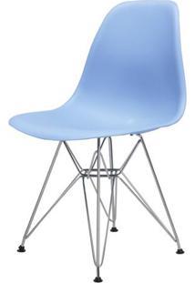 Cadeira Eames Eiffel Pp Azul Bali Base Cromada - 38583 - Sun House
