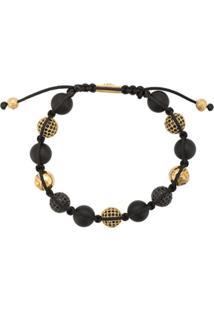 Nialaya Jewelry Pulseira De Contas De Ônix - Preto