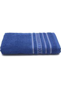 Toalha De Banho Santista Prata Dallas 70Cmx1,35M Azul
