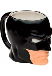 Caneca Dc Comics Batman Face Preto Geek10 Preto