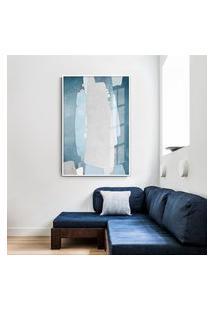 Quadro 150X100Cm Abstrato Textura Kolere Moldura Branca Com Vidro