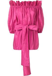 Stella Mccartney Blusa Com Cinto - Rosa