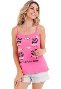 Short Doll Alcinha Feminino Com Algodão Luna Cuore - Feminino-Pink