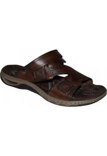 Sandalia Pegada Masculina - Masculino-Marrom