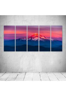 Quadro Decorativo - Larch Mountain Sunset - Composto De 5 Quadros