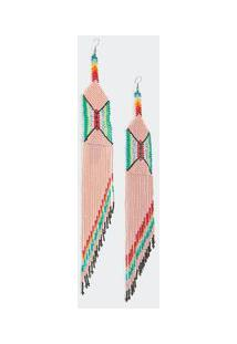 Brinco Yawanawa Pastel - Multicolorido - U
