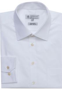 Camisa Ml Comfort Classico Bolso (Branco, 44)