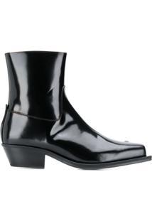 Misbhv Ankle Boot De Couro - Preto