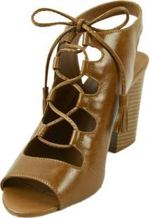 Sandália Lelive Boot Caramelo
