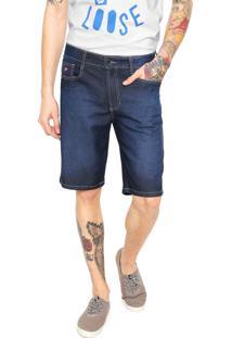 Bermuda Jeans Hang Loose Reta Azul