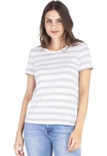 Camisetas Khelf Camiseta Feminina Manga Curta Listras Listra - Listra - Feminino - Dafiti