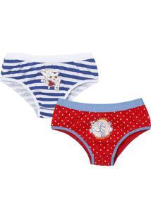 b06b0059c ... Kit De Calcinhas Boneca Tinker Bell®- Branco & Vermelho