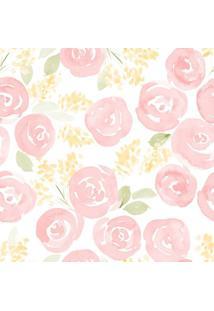 Papel De Parede Stickdecor Adesivo Floral Watercolor Nursery 100Cm L X 300Cm A
