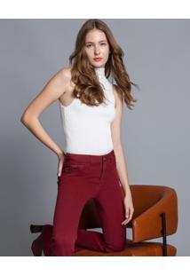 Calça Jeans Flare Malibu Every Day Bordo Helado - Lez A Lez