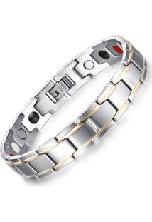 5d412f5c735 ... Pulseira Divanet Magnética Titânio Prata