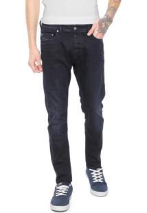 Calça Jeans Diesel Skinny Estonada Azul-Marinho