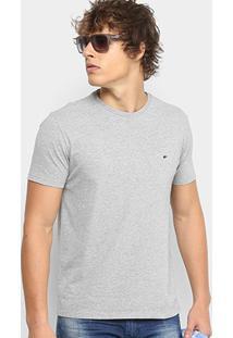 Camiseta Ellus Cotton Fine Asa Classic Masculina - Masculino-Cinza