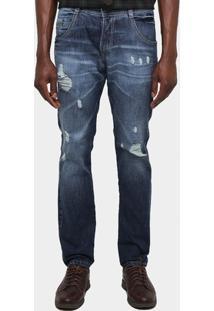 Calça Jeans Biotipo Estonada Puídos - Masculino