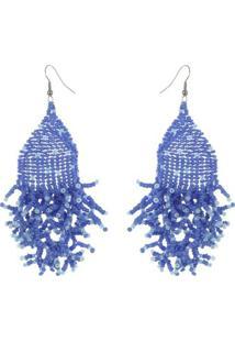 Brinco Tita - Feminino-Azul+Branco