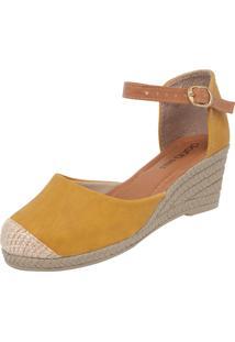 Scarpin Dafiti Shoes Anabela Amarelo