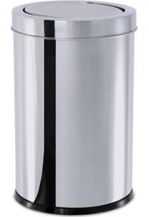 Lixeira Inox Com Tampa Basculante 7,8 Litros