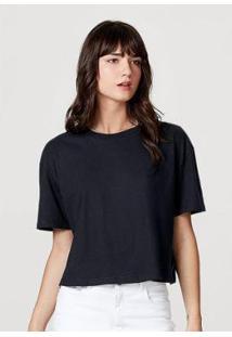 Blusa Feminina Modelagem Box Em Algodão - Feminino