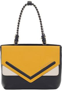 Bolsa Couro Smartbag Tiracolo - Feminino-Amarelo