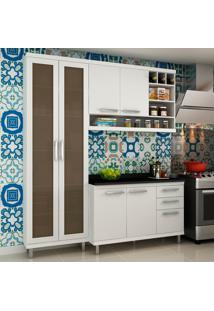 Cozinha Compacta New Vitoria 10 Branco Tx/Bianco - Hecol