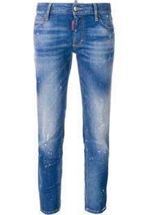 Dsquared2 Calça Jeans Cropped Cintura Média - Azul