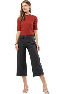 Blusa Mx Fashion Canelada Ianna Marrom