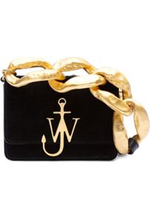 Jw Anderson Anchor Logo Bag With Oversized Chain Links - Preto