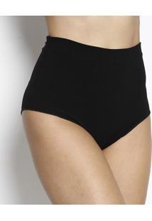 Calcinha Hot Pant Texturizado - Preta - John Johnjohn John