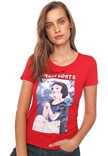 Blusa Cativa Disney Branca De Neve Vermelha