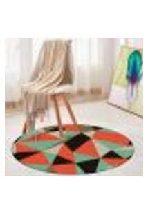 Tapete Redondo Wevans Multi Geométrico Color 84Cm