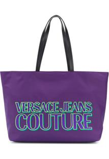 Versace Jeans Couture Logo Shopper Tote - Roxo