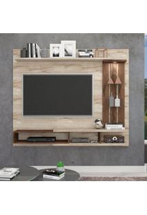 Painel Para Tv Até 50 Polegadas Vitória Rústico E Café