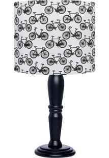 Abajur Carambola Black Bikes Preto