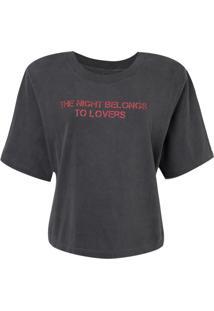 Camiseta John John The Night Feminina (Cinza Medio, P)