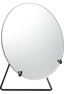 Espelho Com Suporte- Espelhado & Preto- 22Xã˜20X10,5Cmart