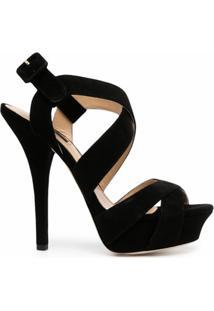 Dolce & Gabbana Sandália Com Tiras Cruzadas E Salto 14Mm - Preto