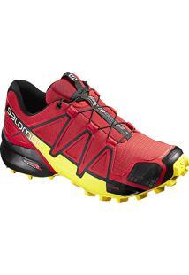 Tênis Salomon Masculino Speedcross 4 Vermelho/Amarelo 45