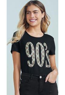 Blusa Preta Ampla 90'S