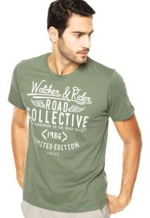 Camiseta Colcci Road Collective Verde