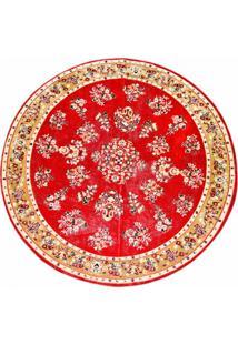 Tapete Veludo Marbella Cl103_6 Red 150 Cm Redondo