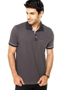 Camisa Polo M. Officer Cinza