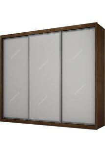 Guarda-Roupa Ravena Top Com Espelho - 3 Portas - 100% Mdf - Castor