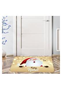 Tapete De Natal Para Porta Christmas Gold Único